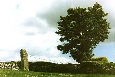"click to see nearby Loughmoney ""Dolmen"" at dusk."